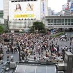 El concurrido cruce de Shibuya