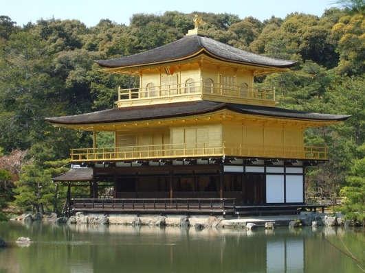 Palacio dorado en Kyoto
