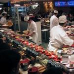Kaitenzushi, cintas transportadoras de comida