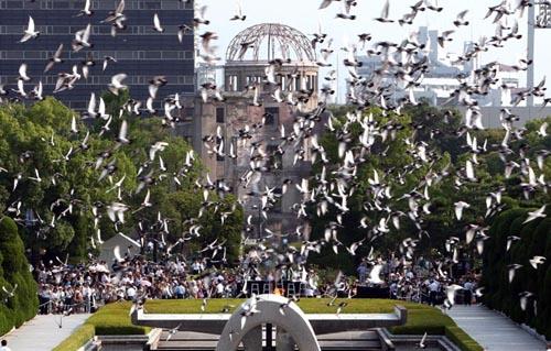 Conmemoración de la bomba atómica en Hiroshima
