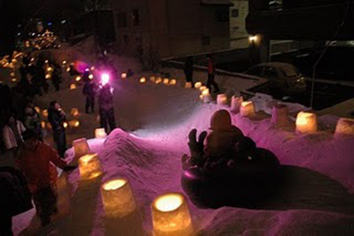Otaru Yuki Akari no Michi, festival de la nieve