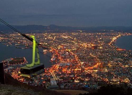 El Monte Hakodate, vistas maravillosas