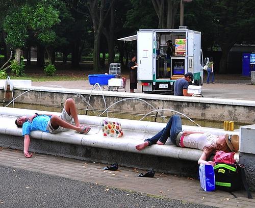japoneses durmiendo