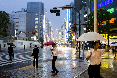 lluvia en japon