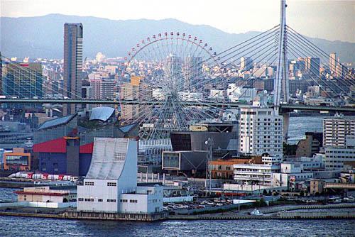 La noria de Tempozan, en Osaka