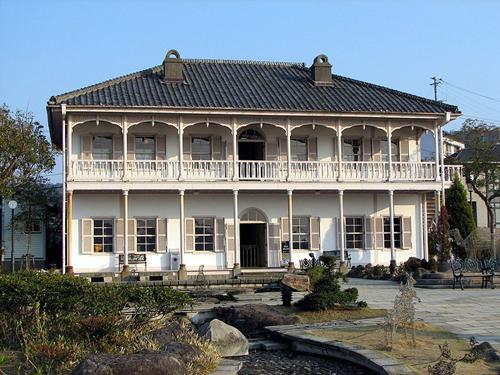 Residencia y jardines Glober, occidente en Nagasaki