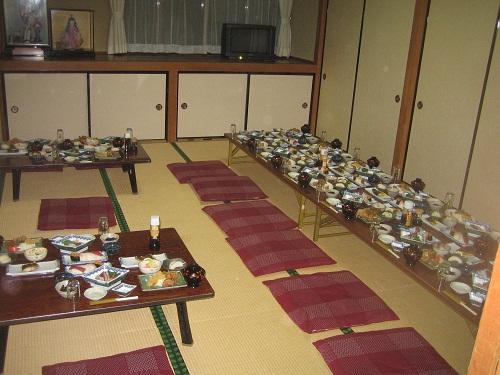 Comer en un ryokan, íntimo y recomendado