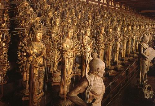 1001 estatuas de Kannon