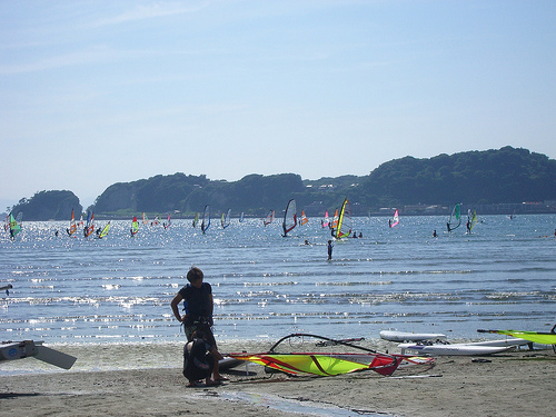Windsurf en Kamakura